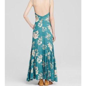 Long floral slip dress